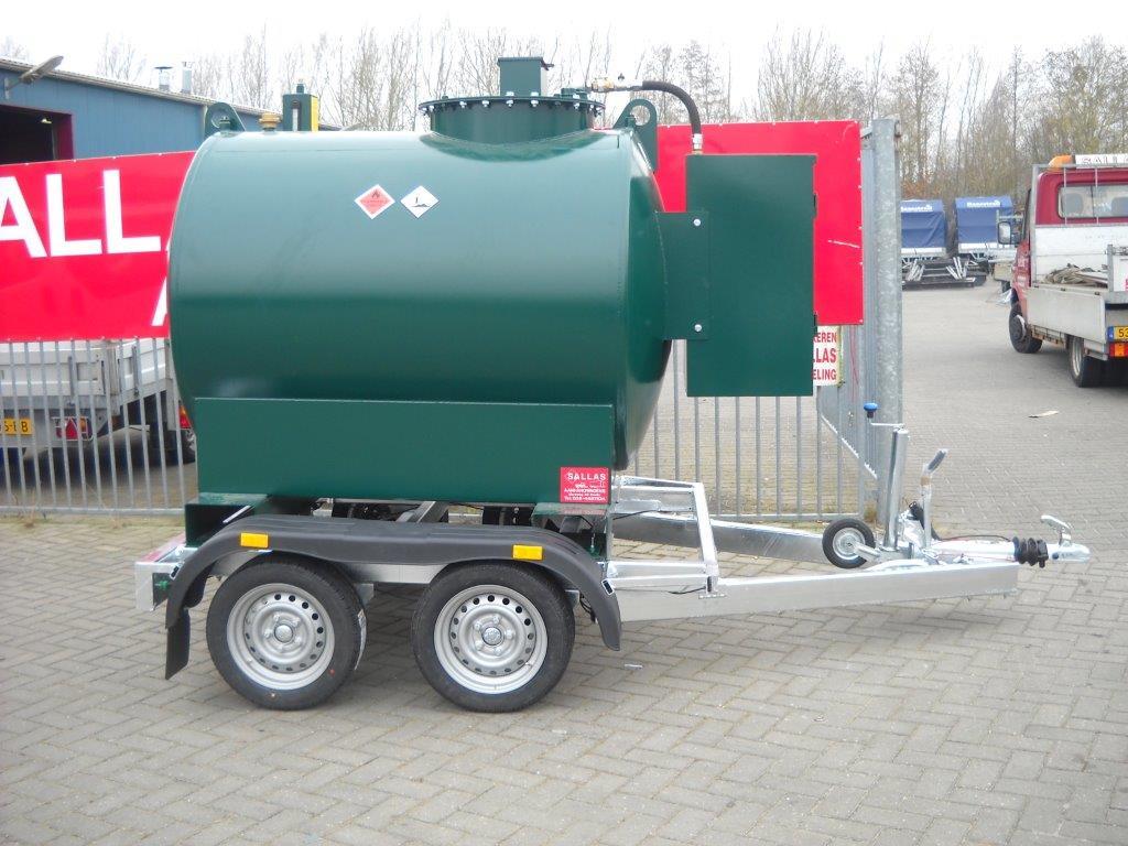 aanhangwagen vloeistoftank