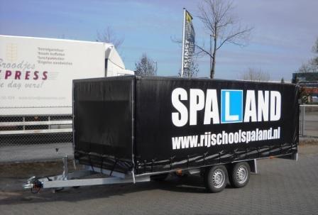 CBR lesaanhangwagen rijschool Spaland